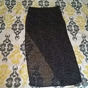NWOT H&M Animal Print Skirt w/ Right Slit